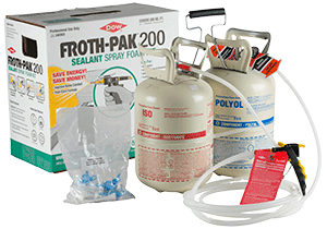 Froth Pak Spray Foam Sealant Is A Two Component Quick Curing Chemically Cured Polyurethane Intended For Professional Use Only With Ropriate