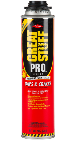 pro gaps cracks low expansion foam filler great stuff