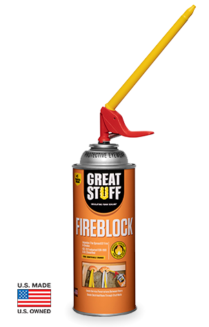 GREAT STUFF™ Fireblock Insulating Foam Sealant with the SMART DISPENSER™ Nozzle