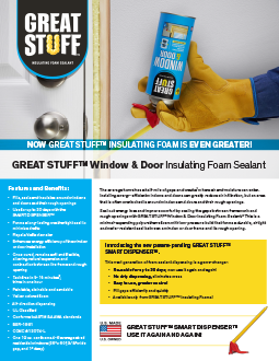 GREAT STUFF™ Window & Door Insulating Foam Sealant Overview